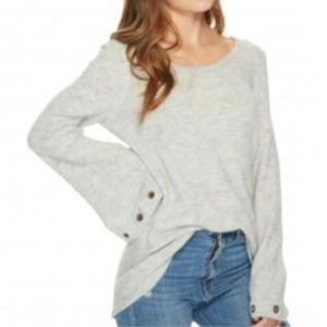 Kensie Women Grommet Bell Sleeve Pullover Sweater